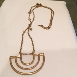 Hold tone long necklace